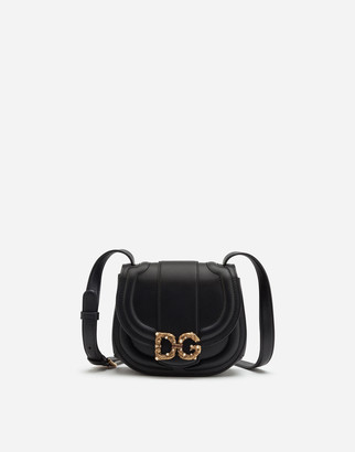 Dolce & Gabbana Small Amore Bag In Smooth Calfskin