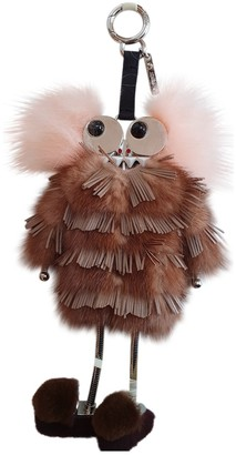 Fendi Brown Mink Bag charms
