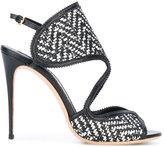 Salvatore Ferragamo woven texture sandals - women - Leather/Nappa Leather - 6