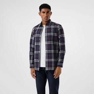 Burberry Check Cotton Popin Shirt