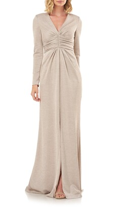 Kay Unger Kayla Long Sleeve Evening Gown