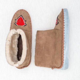 The Small Home - Beaded Sheepskin Boots Chilli - 36
