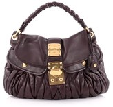 Miu Miu Pre-owned: Coffer Convertible Hobo Matelasse Leather.