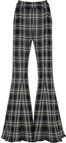 Beaufille Navi Flared Plaid Trousers