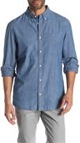 Calvin Klein Cotton Chambray Button Down Shirt