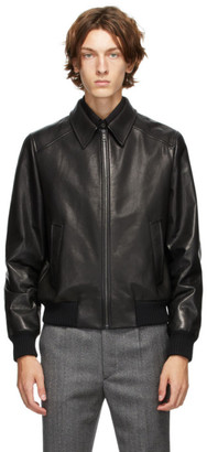 Prada Black Leather Moto Jacket