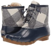 Sperry Saltwater Corduroy Buffalo Check (Navy) Women's Rain Boots