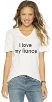 Peace Love World I Love My Fiance V-Neck Tee
