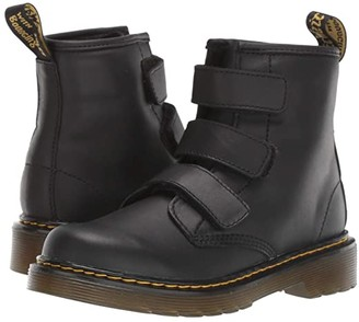 Dr. Martens Kid's Collection 1460 Strap (Little Kid/Big Kid) (Black Romario/Smoother Finish) Kid's Shoes