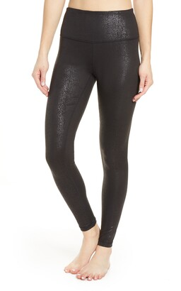 Zella Live In Metallic Print High Waist Leggings