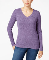 Karen Scott Marled Ribbed Sweater, Only at Macy's
