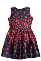 Oscar de la Renta Poppies Mikado Party Dress