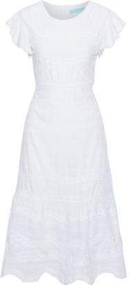 Melissa Odabash Louisa Embroidered Cotton-voile Midi Dress