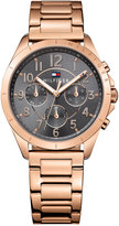 Tommy Hilfiger Women's Kingsley Rose Gold-Tone Stainless Steel Bracelet Watch 36mm 1781606