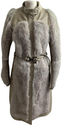 Gucci Beige Shearling Coat for Women Vintage