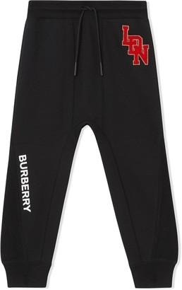 Burberry TEEN logo graphic track pants