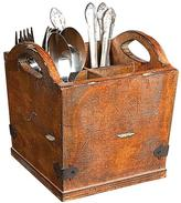 Home Decorators Collection Dorian 7 in. H x 7 in. W Rustic Brown Utensil Holder