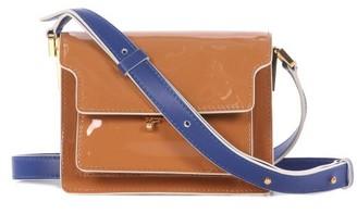 Marni Trunk Mini Patent-leather Cross-body Bag - Tan Multi