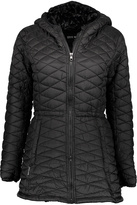 Steve Madden Black Faux Fur-Lined Hooded Long Puffer Coat - Plus Too