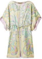 Emilio Pucci Printed Silk-twill Mini Dress - Lilac