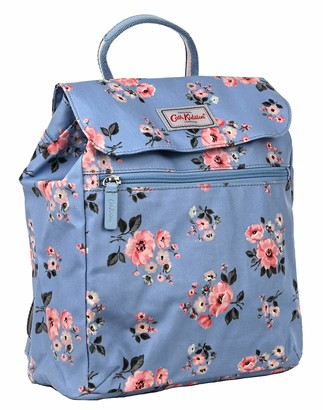 Cath Kidston handbag backpack in Grove Bunch Design in Grey Blue Oilcloth