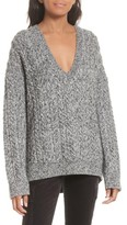 Vince Women's Cable Knit V-Neck Sweater