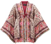 Etro Rupee Girl Embroidered Silk-blend Jacquard Jacket - Womens - Pink Multi
