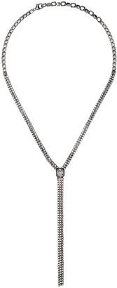 As 29 18kt black gold white diamond Venus Illusion long necklace