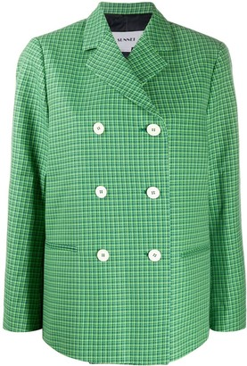 Sunnei Double Breasted Houndstooth Jacket
