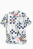 Urban Outfitters Yacht Race Short Sleeve Button-Down Shirt