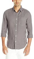 Jack Spade Men's Ferry Garment Dyed Trapunto Point Collar Shirt