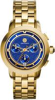 Tory Burch Women's Swiss Chronograph Classic Gold-Tone Stainless Steel Bracelet Watch 37mm TRB1013