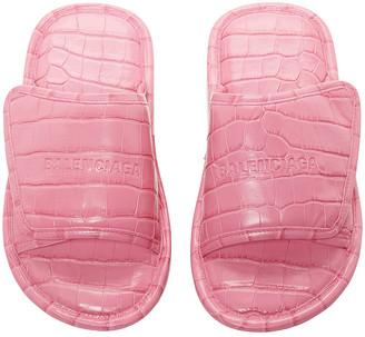 Balenciaga Home Sandals in Fuxia | FWRD