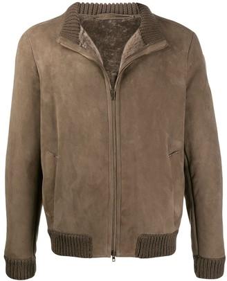 Salvatore Santoro Shearling Lined Bomber Jacket