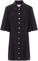 Thumbnail for your product : BA&SH Cara Gathered Sateen Mini Shirt Dress