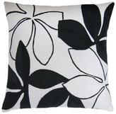 Judy Ross Textiles Flora Cream/Black Pillow