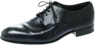Giorgio Armani Blue Leather Oxford Shoes Size 40