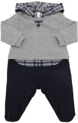 Il Gufo COTTON LIGHT SWEATER ROMPER W/ HOOD