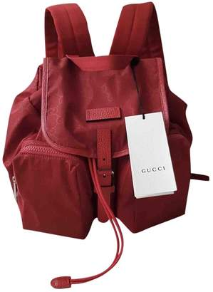 Gucci Red Cloth Backpacks