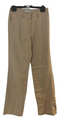 Stefanel Camel Linen Trousers