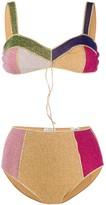 Oseree Shimmer Colour Block Bikini Set
