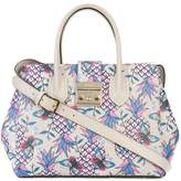 Furla pineapple and butterfly printed tote bag