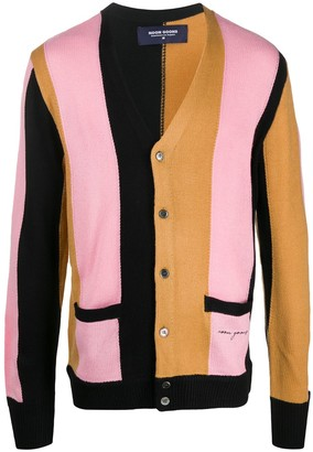 Noon Goons Colour-Block Fitted Cardigan