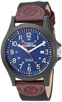 Timex Men's TWF3C8410 Expedition Acadia Leather/Nylon Strap Watch