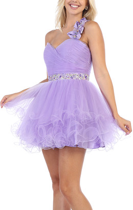 MayQueen Women's Special Occasion Dresses Lilac - Lilac Tulle Fit & Flare Dress - Women