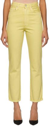 A Gold E Agolde AGOLDE Yellow Pinch Waist Hi Rise Kick Jeans