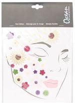 Glitter flower face stickers