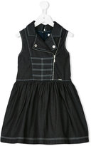 Junior Gaultier zipped denim dress - kids - Cotton/Polyester - 4 yrs