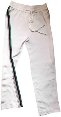 Olivia von Halle White Silk Trousers