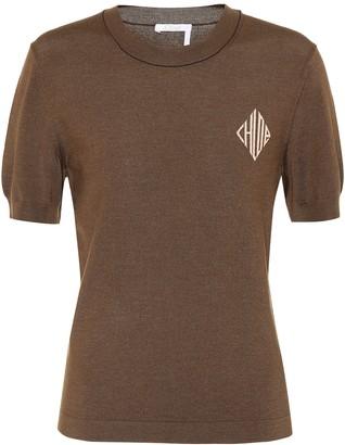 Chloé Logo wool-blend sweater